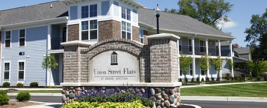 Union Street Flats in Westfield property entrance