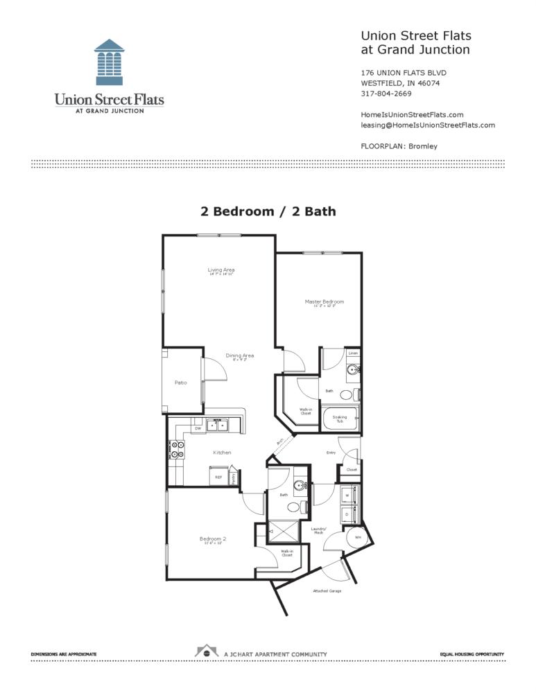 Bromley 2 Bedroom Floor Plan Union Street Flats